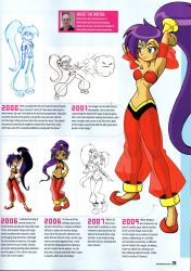 concept_art float_muffin harem_outfit highres lots_of_jewelry magazine_scan nintendo_power official_art ponytail scan shantae_(character) shantae_(series) wayforward  rating:Safe score:48 user:Novea