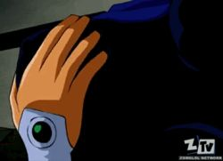 animated clothed_sex from_behind groping implied_fingering lowres raven_(dc) squeezing_breast starfire teen_titans zone