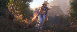 abs ashina_isshin genderswap highres japanese_(nationality) japanese_clothes sekiro:_shadows_die_twice stomach sword tree weapon  rating:Explicit score:4 user:kietsutwinblades
