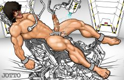 >1/hole barefoot bdsm bleach bondage bound_wrists breast_sucking dark_skin electricity experiment forced injection jotto legs_held_open machine male malesub muscular nude object_insertion orgasm_denial penis sado_yasutora science sex_machine slave spread_legs surprised tazer tears torture urethral_insertion
