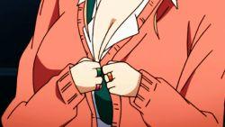 Rule 34   1girl, animated, animated gif, blonde hair, bouncing breasts, breasts, cleavage, gyaru, hajimete no gal, indoors, large breasts, long hair, ponytail, school uniform, solo, tied hair, undressing, yame yukana