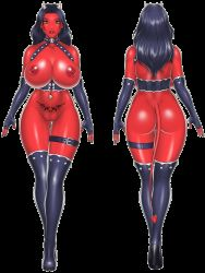 Rule 34   1girl, akiranime, animated, animated gif, areolae, ass, ass focus, bare shoulders, black gloves, black hair, body tattoo, boots, bouncing breasts, breasts, breasts outside, bursting, bursting breasts, bursting cleavage, butt crack, cleavage, colored skin, curvy, curvy hips, demon girl, demon horns, demon tail, dimples of venus, elbow gloves, female focus, fingerless gloves, from behind, front and back, frontal view, gloves, green eyes, half naked, high heel boots, high heels, highres, horns, huge areolae, huge ass, huge breasts, huge cleavage, huge nipples, leather, leather belt, leather boots, leather choker, leather gloves, leather straps, leg belt, lips, lipstick, long hair, looking at viewer, makeup, monster, monster girl, multiple views, nail polish, navel, navel piercing, navel tattoo, nipples, no bra, no panties, original, piercing, pubic tattoo, puffy areolae, puffy nipples, red lips, red skin, red tail, shoulders, skull, skull neckwear, skull pin, smile, solo, spade (shape), tail, tattoo, thigh boots, thighhighs, walking, wide hip