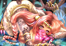 Rule 34   bastemon, cat girl, digimon, fang, jewelry, multiple tails, pink eyes, ring, tail