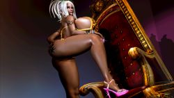 Rule 34   1girl, absurdres, animal print, arm tattoo, artist request, ass, ass tattoo, bracelet, breasts, chair, cleavage, curvy, dark skin, dark skinned female, earrings, eyelashes, eyeliner, eyeshadow, facing viewer, fingernails, foot on chair, ganguro, gigantic breasts, gyaru, high heels, highres, honey select, huge ass, huge breasts, jewelry, kogal, leopard bikini, leopard print, lipgloss, long fingernails, looking at viewer, makeup, nail polish, original, pink footwear, pink high heels, pink nail polish, pink nails, sideboob, sparkle, tattoo, tongue, tongue out, white hair, wydi (@waidi821)