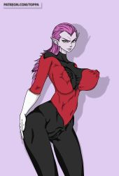 Rule 34   ass, big-breasts, breasts, clothes, cocotte, cocotte (dragon ball), dbz, dragon ball, dragonball z, highres, huge ass, huge breasts, huge nipples, large breasts, legs, nipples, nude, purple hair, pussy