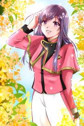 1girl, black hair, flower, highres, mashin sentai kiramager, ooharu sayo, pink eyes, sparkling, super sentai