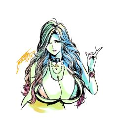 Rule 34   1girl, 2019, breasts, dated, gal ane shachou to harem ganguro ~sex wa gyoumu ni fukumimasu ka?, ganguro, highres, huge breasts, long hair, nishigori ai, original, signature, smile, tatsunami youtoku