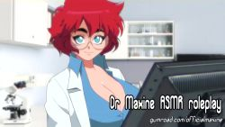 Rule 34 | 1boy, 1girl, animated, asmr, assertive female, bouncing breasts, breasts, bursting breasts, censored, cleavage, close-up, collarbone, dirty talk, doctor, female focus, glasses, green eyes, gumroad username, huge breasts, laughing, looking at viewer, maxine (balak), medical, medical care, medical equipment, microscope, mp4, office, onlyfans username, open clothes, original, patreon username, penis, penis grab, penis rub, preview, red hair, short hair, smile, tagme, test tube, video, video with sound, webm, yves bigerel