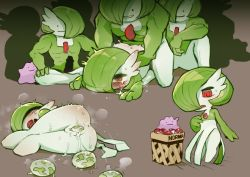 Rule 34 | 1girl, ahegao, anus, creatures (company), ditto, doggystyle, egg, egg laying, game freak, gardevoir, gen 1 pokemon, gen 3 pokemon, green hair, hair over one eye, highres, lying, multiple boys, nintendo, on side, poke ball, poke ball (basic), pokemon, pokemon (creature), pussy, pussy juice, red eyes, sex, sex from behind, transform (pokemon), transformed ditto, trembling, uncensored, yeti (mu kaiten)