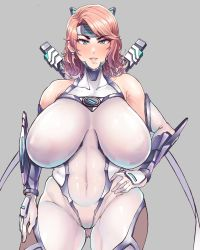 Rule 34 | 1girl, bodysuit, breasts, highres, huge breasts, looking at viewer, mansonparesu, smile, solo