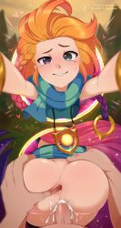 Rule 34   1boy, 1girl, anus, armlet, ass, ass grab, breasts, cum, cum in pussy, freckles, hair ornament, hetero, heterochromia, highres, jewelry, league of legends, long hair, merunyaa, multicolored hair, necklace, orange hair, penis, portal (object), sex, small breasts, smile, sparkle, spread anus, spread ass, uncensored, vaginal, zoe (league of legends)