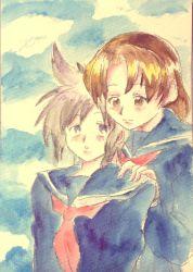 2girls, highres, key the metal idol, kuriyagawa sakura, mima tokiko, multiple girls, smile, tagme, yuri