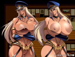 Rule 34 | 1girl, breasts, crossed arms, huge areolae, huge breasts, long hair, nipples, noriheita, solo