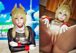 Rule 34   3d, anal, angry, ass, azur lane, bed, blonde hairwhite gloves, blush1girl, breasts, censored, honey select, leg grab, small breasts, warspite (azur lane)