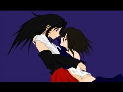 2girls, incest, japanese clothes, miko, miko embrace, multiple girls, original, siblings, sisters, yuri