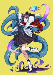 absurdres, arknights, deepcolor (arknights), highres, scarf, tentacle